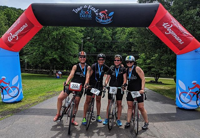 Congrats to Sue, Paula, Hannah, and Lauree for completing the 45-mile @tourdekeuka ride yesterday! 🚴♀️ These ladies raised enough money to provide 2,000+ meals to folks in our community through @foodbankstier. Want to donate and support the Food Bank of the Southern Tier? Click here: https://tdk-2019.everydayhero.com/us/lauree @sdozoretz @pgy171 @younghl7 @locodowo @pallas.ithaca  #Pallas #CrossFitPallas #PallasFitness #Community #Coaching #Fitness #CrossFit #CrossFitKids #Yoga #Core #Pregnancy #Postpartum #WomensWellness #Functional #Health #Wellness #Gym #Ithaca #FLX