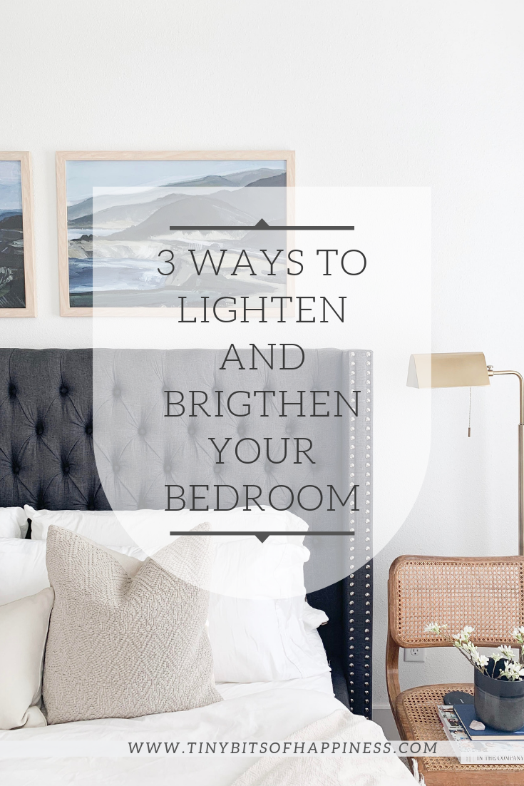 www.tinybitsofhappiness.com Light & Bright Master Bedroom Reveal