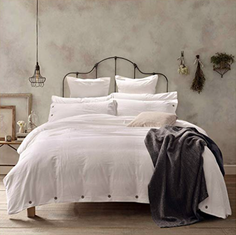 Our Stonewashed Cotton King Bedding