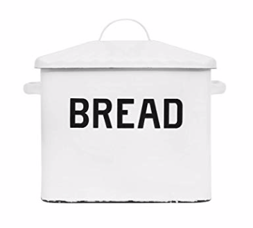 Our Enamel Breadbox Container