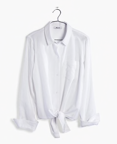 Tiny Bits Summer Capsule | Madewell Button Up