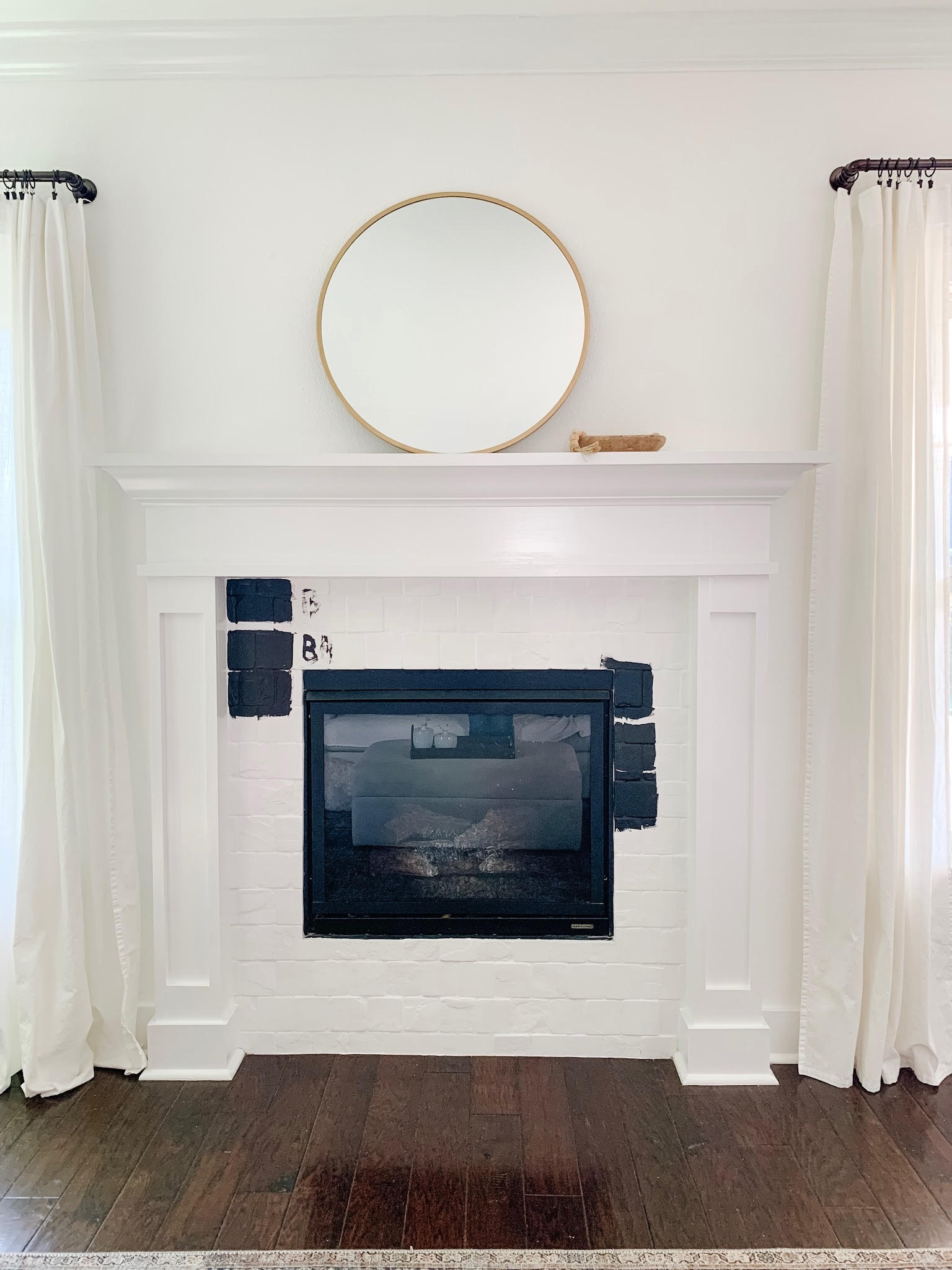 Tiny Bits of Happiness | How to Paint a Fireplace