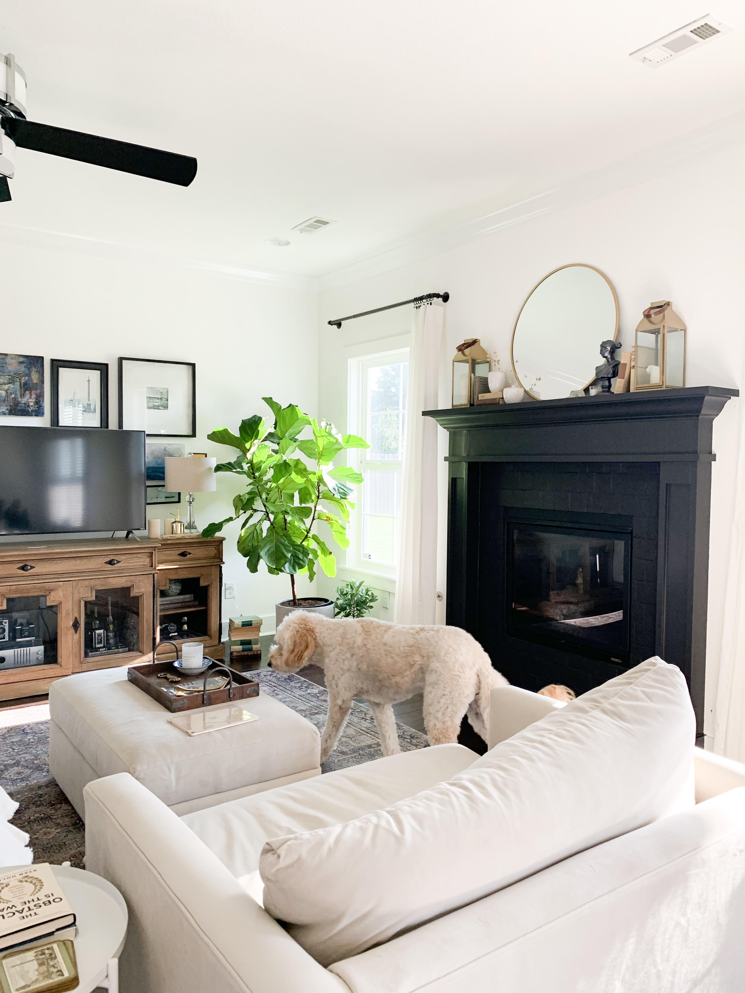 Tiny Bits of Happiness | How to Paint Fireplace