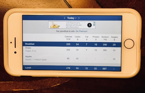 myfitnesspal app (or similar app) is a great tool for tracking calories during your wellness journey