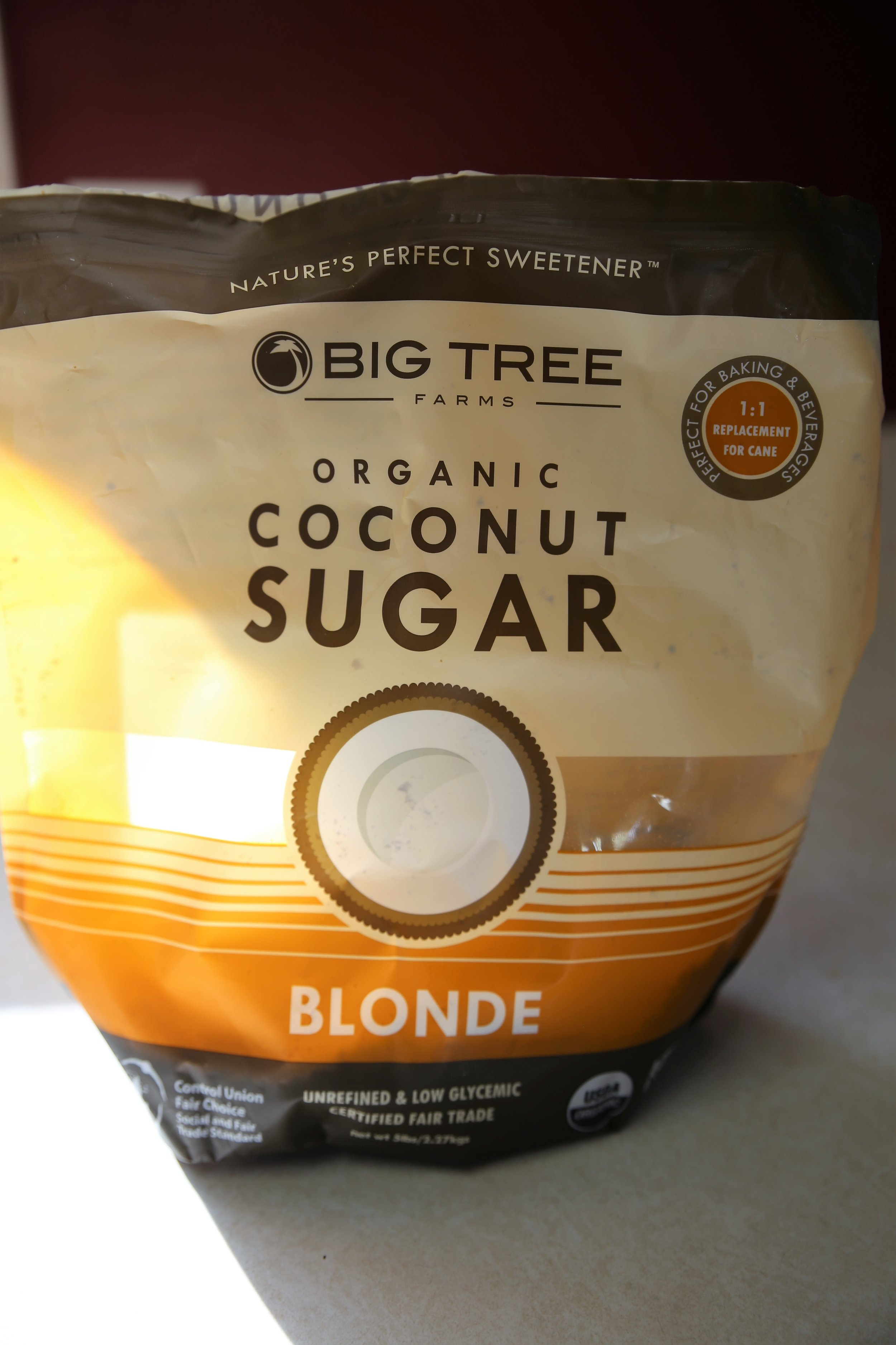1:1 for regular sugar with hint of molasses taste - So far I've really only found that coconut sugar does not taste good in lemonade. For all of my baking needs, this is my go to sugar.Where to buy: Amazon.com, Whole Foods, Costco, Trader Joes, Fresh Thyme and many other local stores