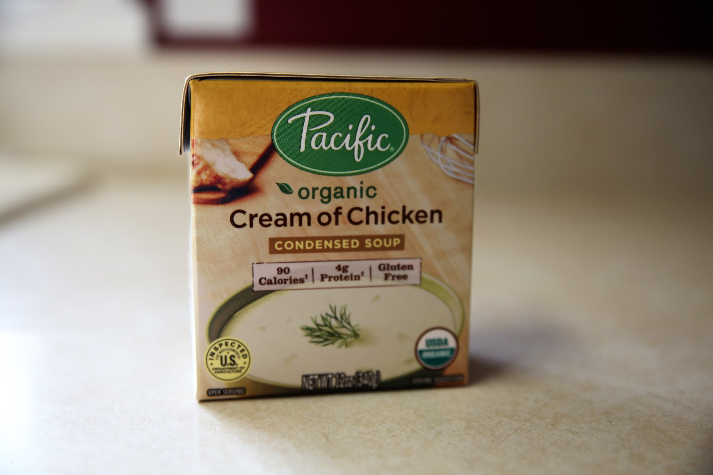 Cream of Chicken Soup - We don't use this a ton, but we do love making Chicken Divan with this and the chickpea crumbs (above).This option by Pacific Foods is a much cleaner version compared to the kind I grew up with. Note: It's not grain free but it is gluten free.Best price again is Thrive Market online, but this brand is also available at Target, Whole Foods, and Fresh Thyme.