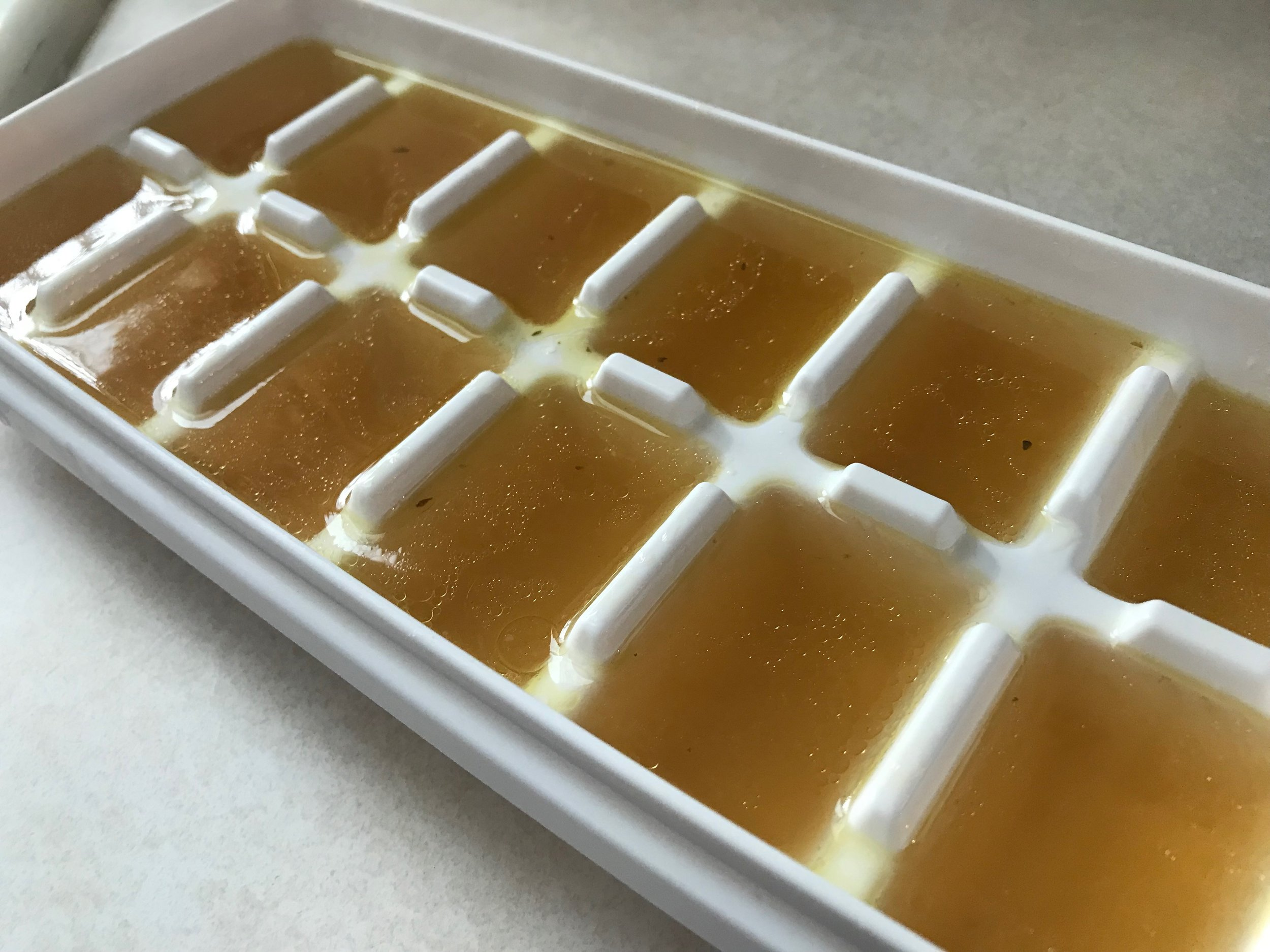 Freezes great in ice cube trays -