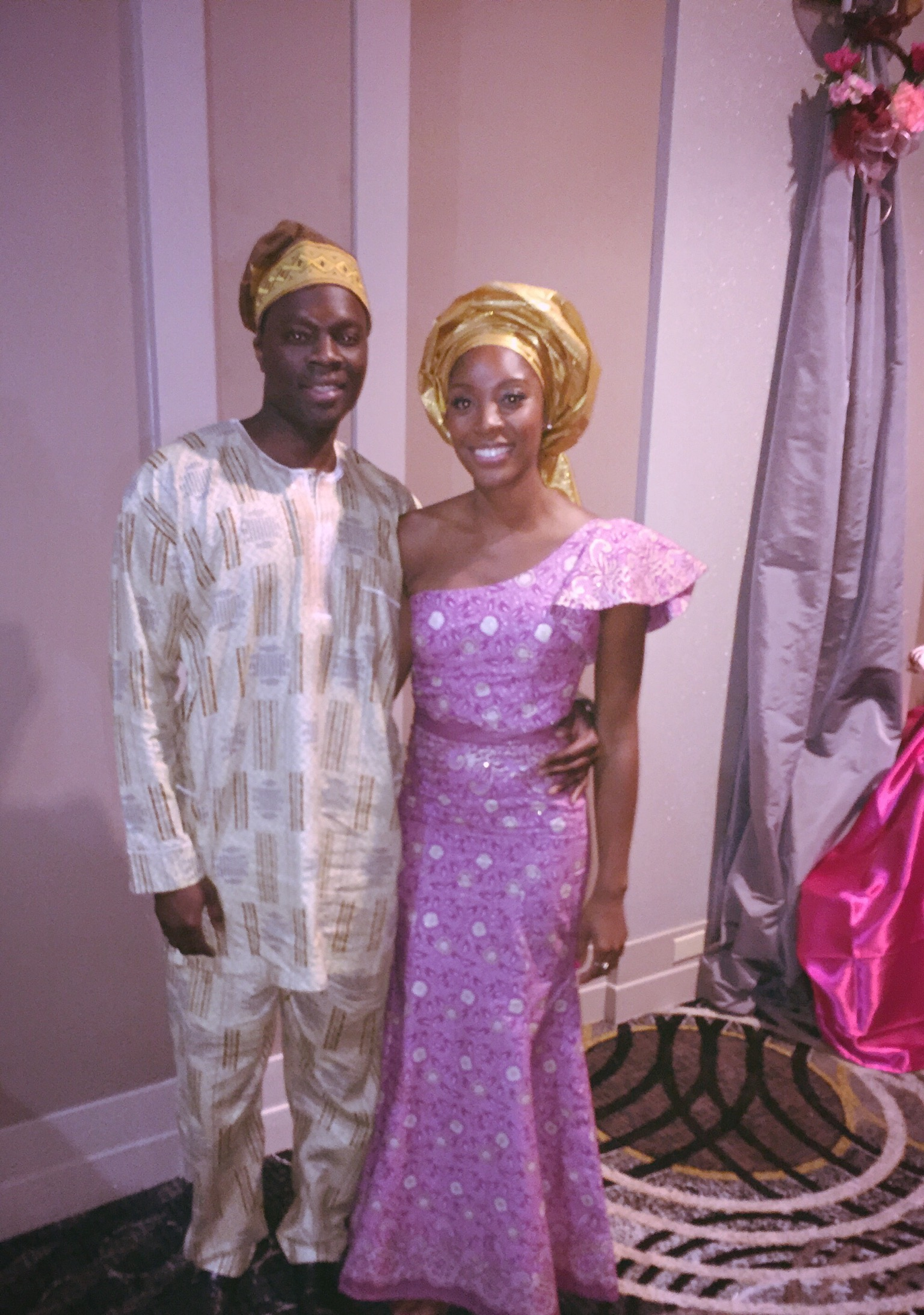 At the Nigerian wedding of Emerald's close friend, Liz.
