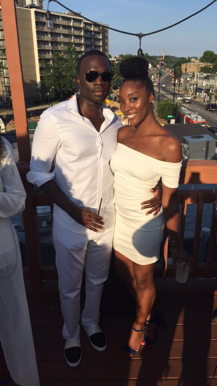 At the 30th birthday party of Tolu's sister, Fisayo! It was an all-white affair.