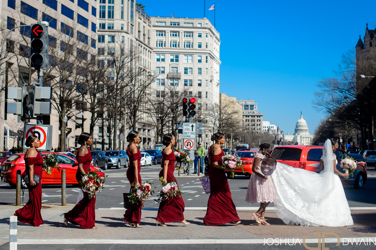 It was a beautiful day to get married in the heart of Washington, DC.