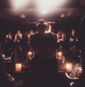 Riders sweat it out in darkness  Credits:  Ride Cycle Club