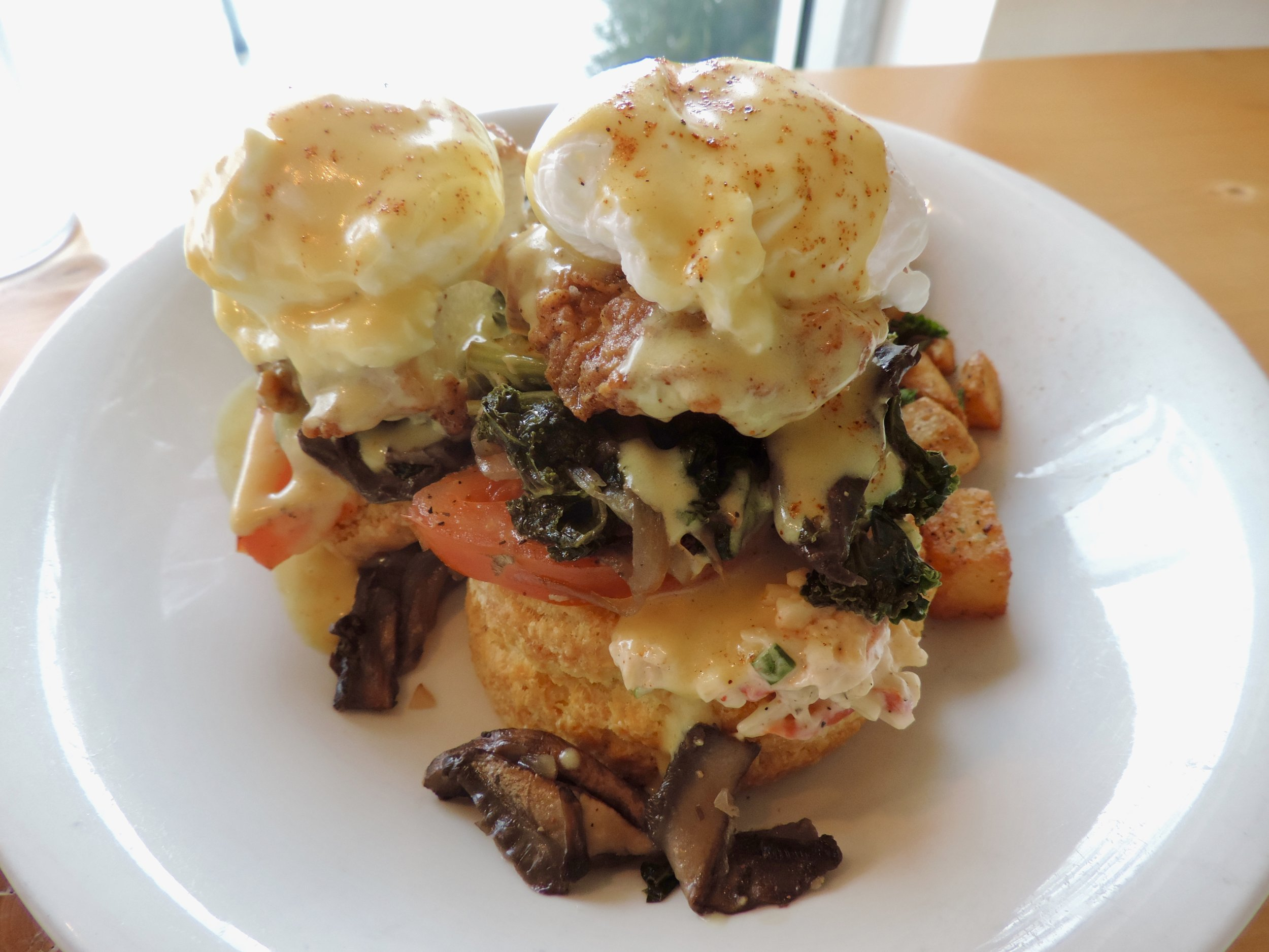 My friend had the Veggie and Chicken Benny's which was really delicious
