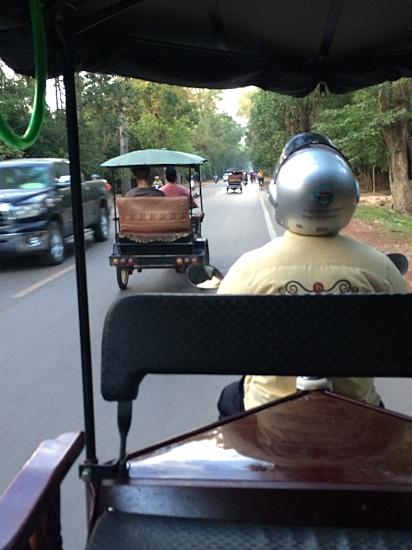 Tuk tuk ride to Angkor Wat.