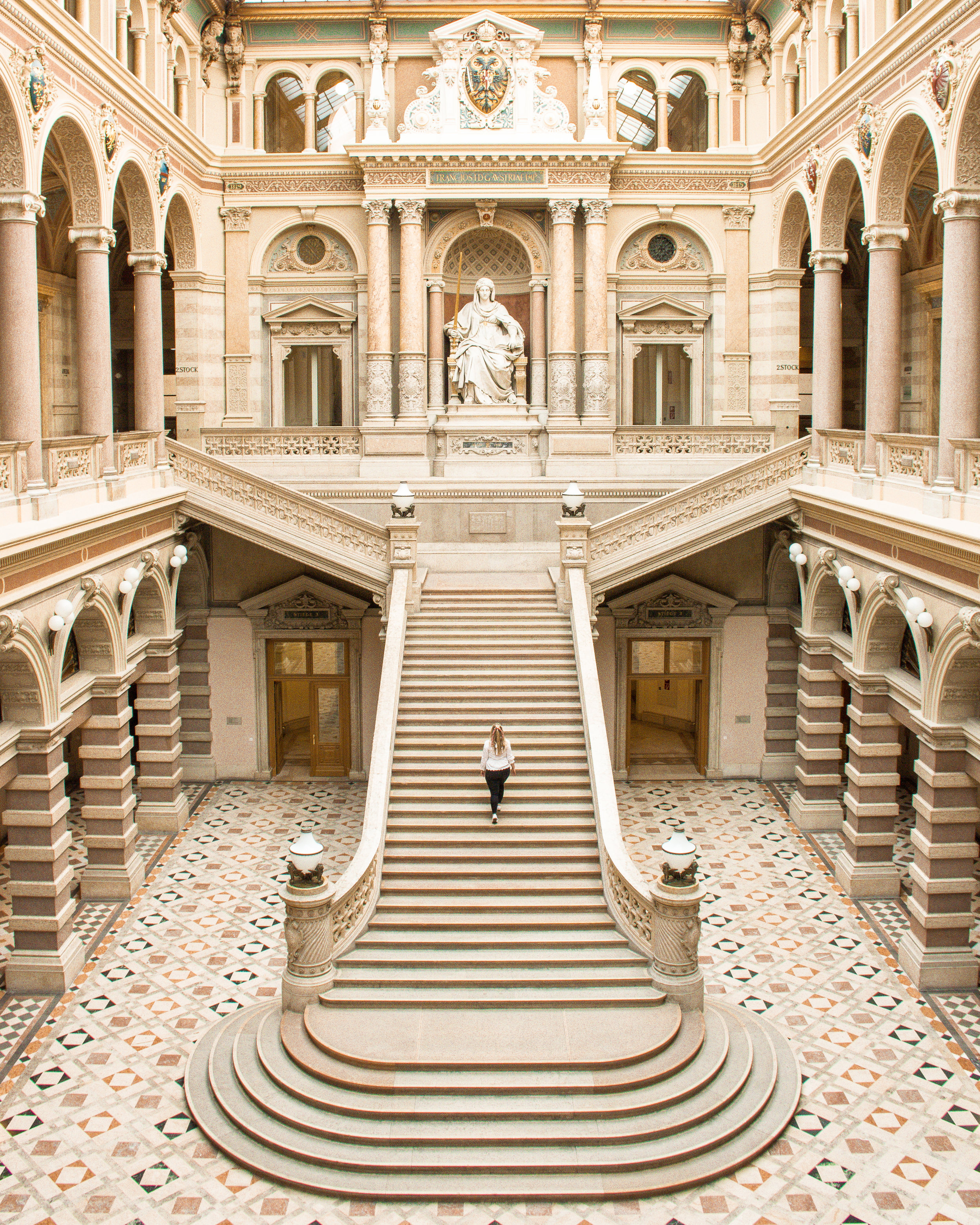 The gorgeous Palace of Justice is truly a work of art, and is a quiet respite from the busy city outside.