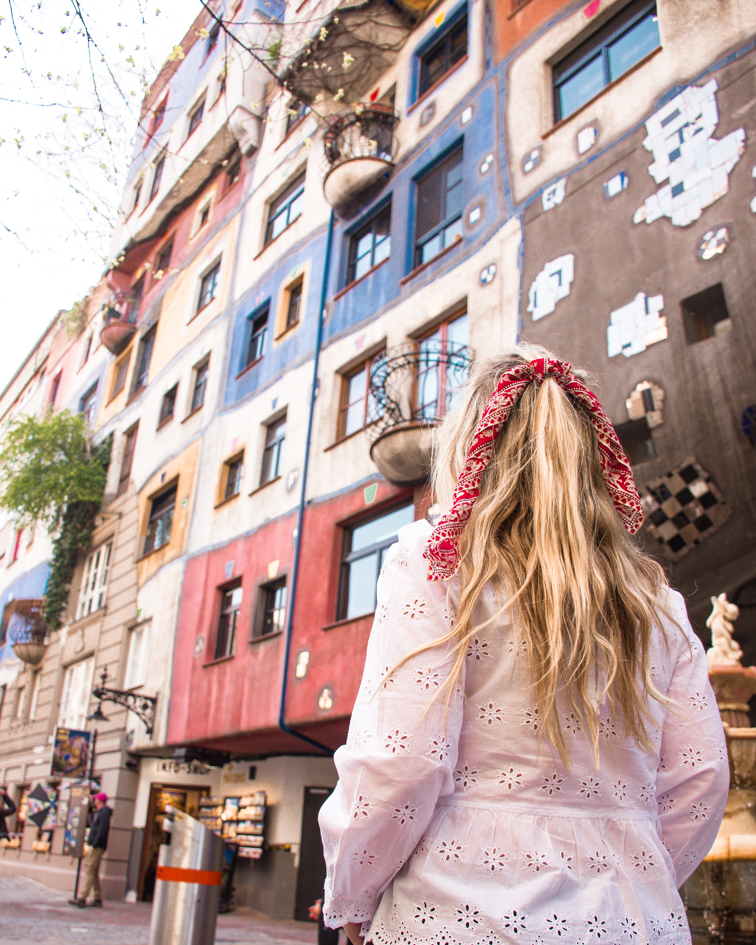 The Hundertwasser House is a striking change of architecture to the generally opulent feel of most Viennese buildings.