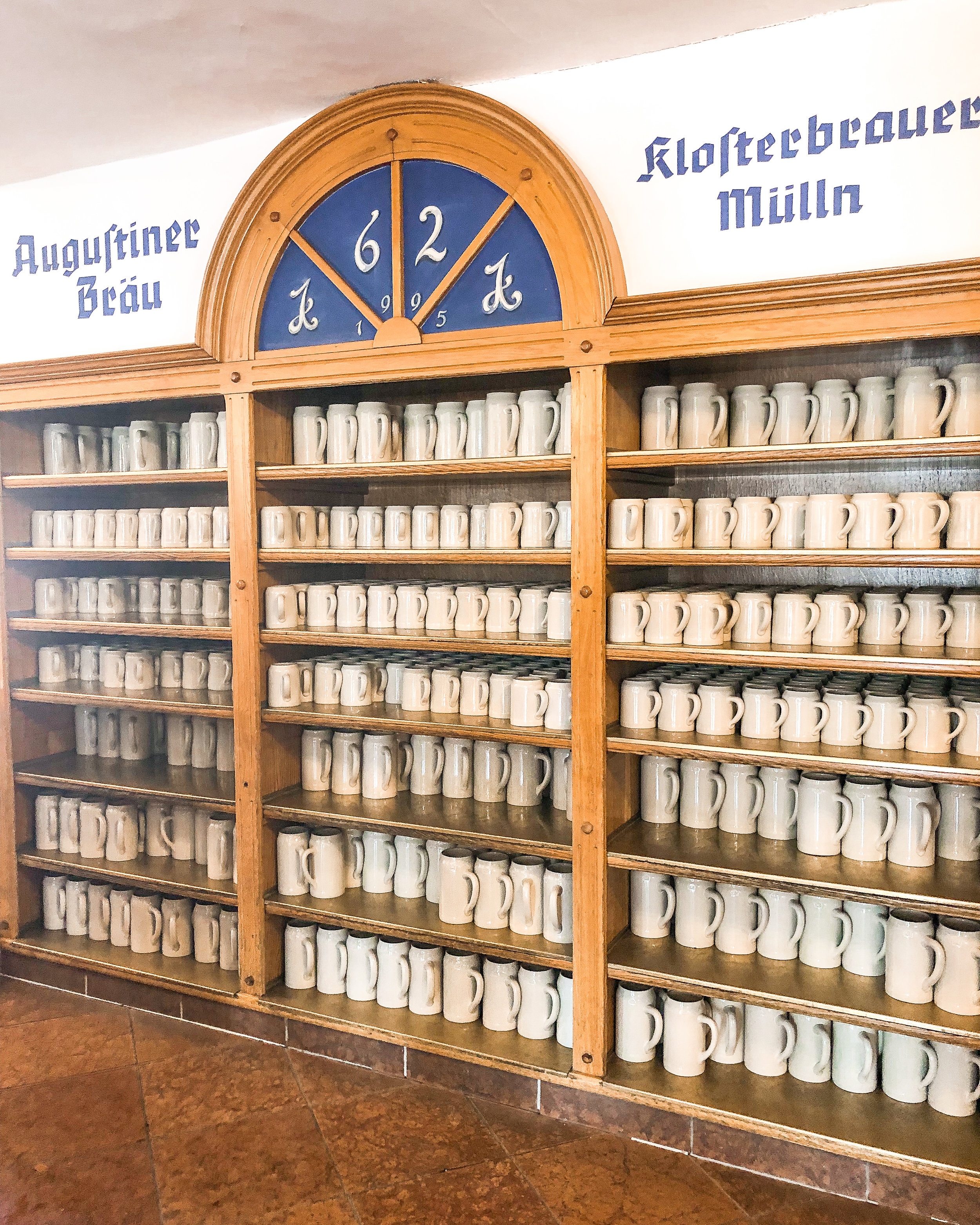 Grab a stein from this wall, and pay up front for all you can drink beer!