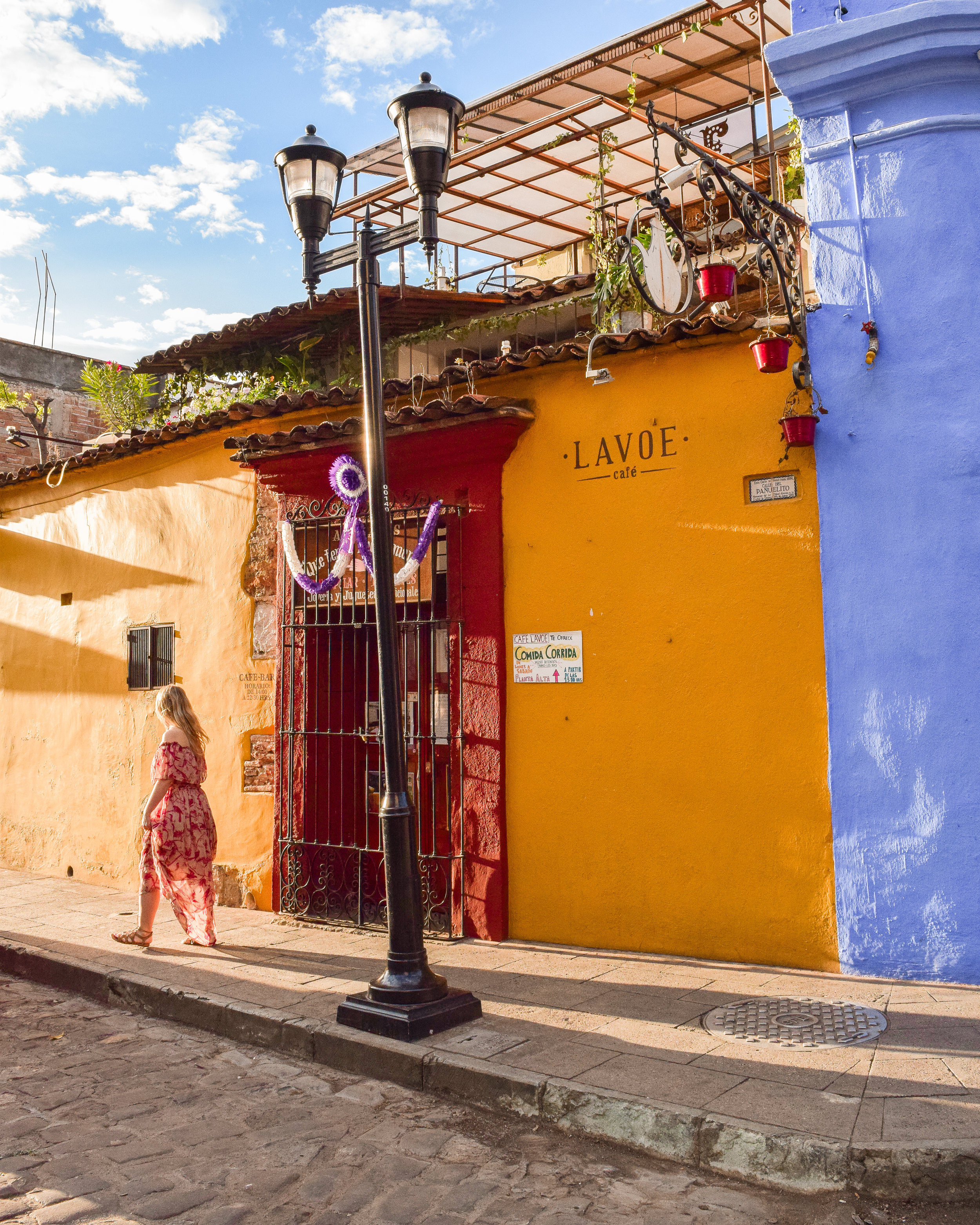 When you walk the streets of Oaxaca City, you will see some of the most saturated colors merging together like a rainbow was splashed across the streets.