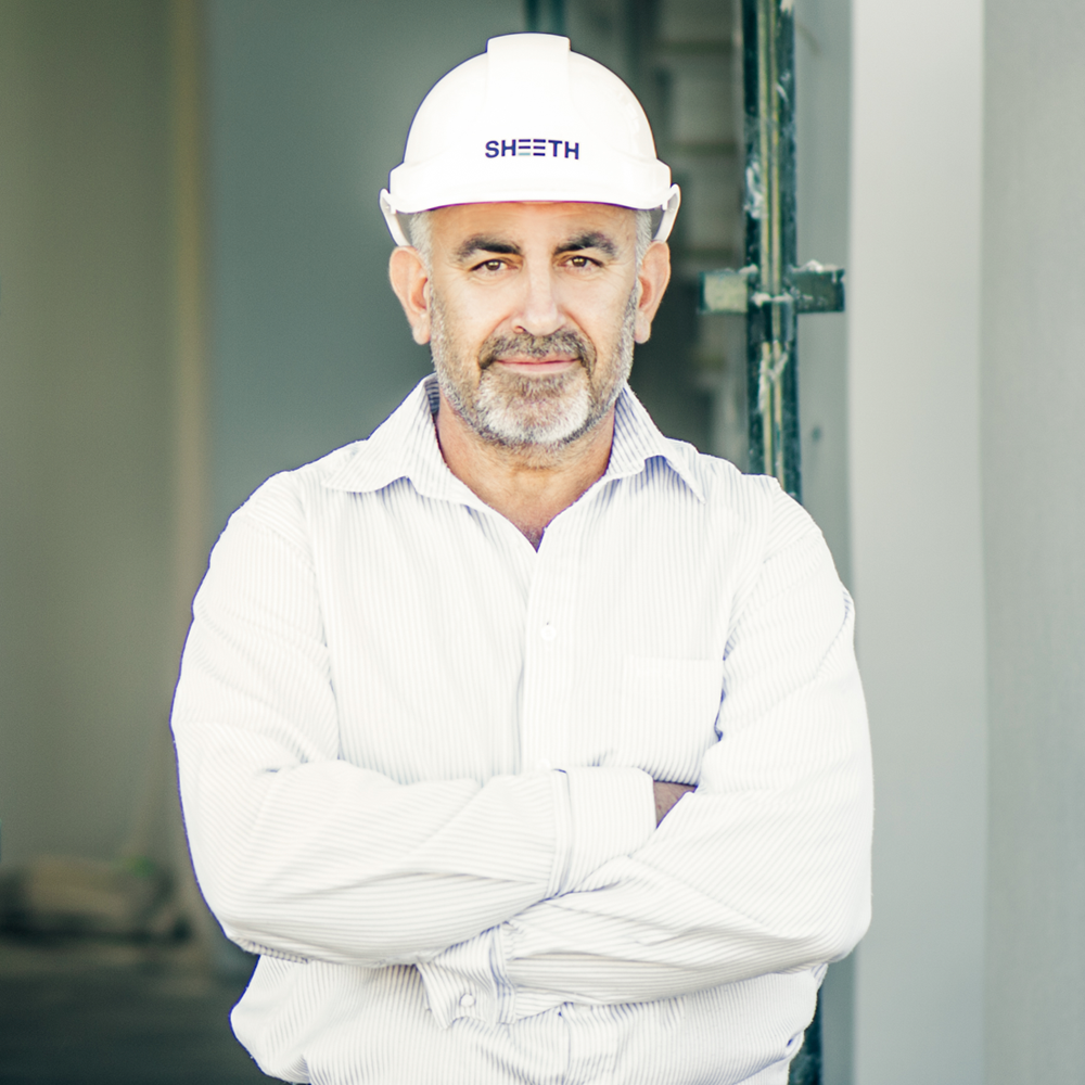 KASSEM SHEETH  DIRECTOR  Kassem boasts over 30 years experience in the construction and property industry. Through his hard work and great leadership, he has continually formed trust, built confidence, delivered certainty and earned recognition across all projects under his direction.  He and his team have delivered over 100 projects ranging anywhere between $100,000 through to $10million with over 50% of our projects awarded from repeat clients.  Kassem's focus is on clients relationships, business management and business growth and development.
