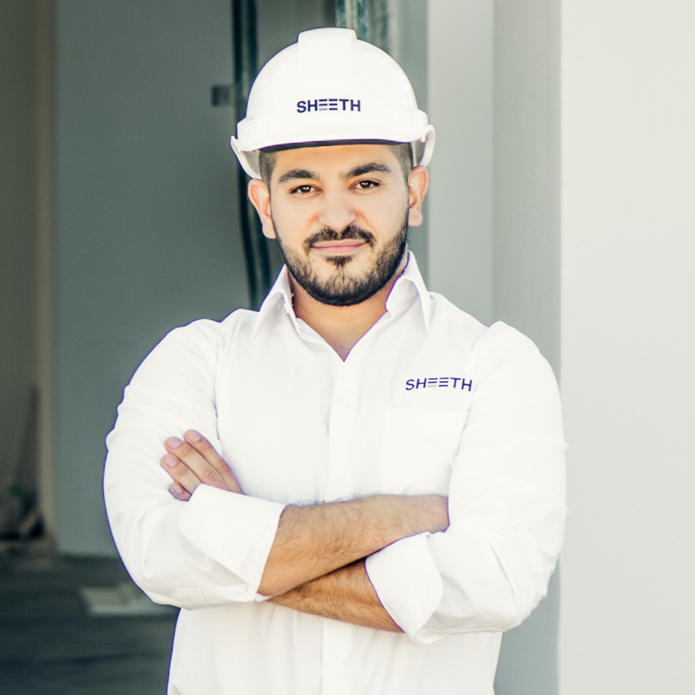 Hussein Sheeth  managing director  With over ten years of experience in the construction and property industry across the residential, commercial and interior sectors, Hussein created SHEETH with the vision of being amongst Australia's leading construction companies.  Through his Bachelor of Construction Management, Advanced Diploma in Structural Engineering and valuable experience gained in the construction industry. Hussein has the experience, vision, commitment and drive to ensure every project, from conception through to handover, is delivered to the highest standards.