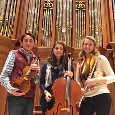 Riverside Trio - Grant Johnson, violin; Arianna Wegley, cello; Rachel Kilgore, flute