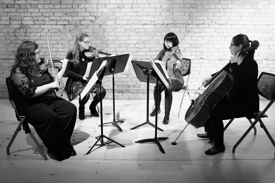 Mill City String Quartet: Huldah Niles , violin;  Erika Hoogeveen , violin;  Valerie Little , viola;  Ruth Marshall , cello  (Thursday Musical debut)