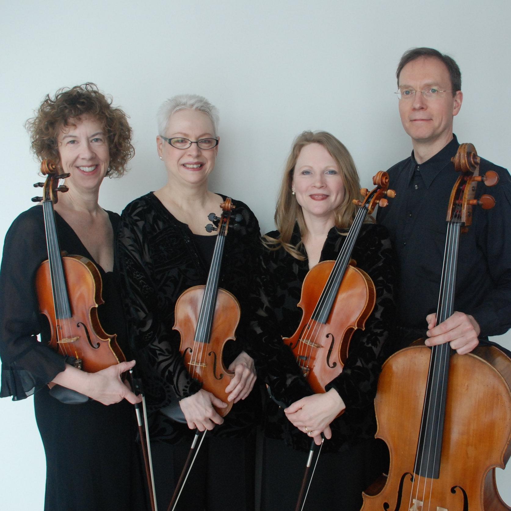 Lake String Quartet: Nanette Scott Goldman,  violin;  Carol Margolis,  violin;  Ingrid Koller,  viola;  Daryl Carlson,  cello