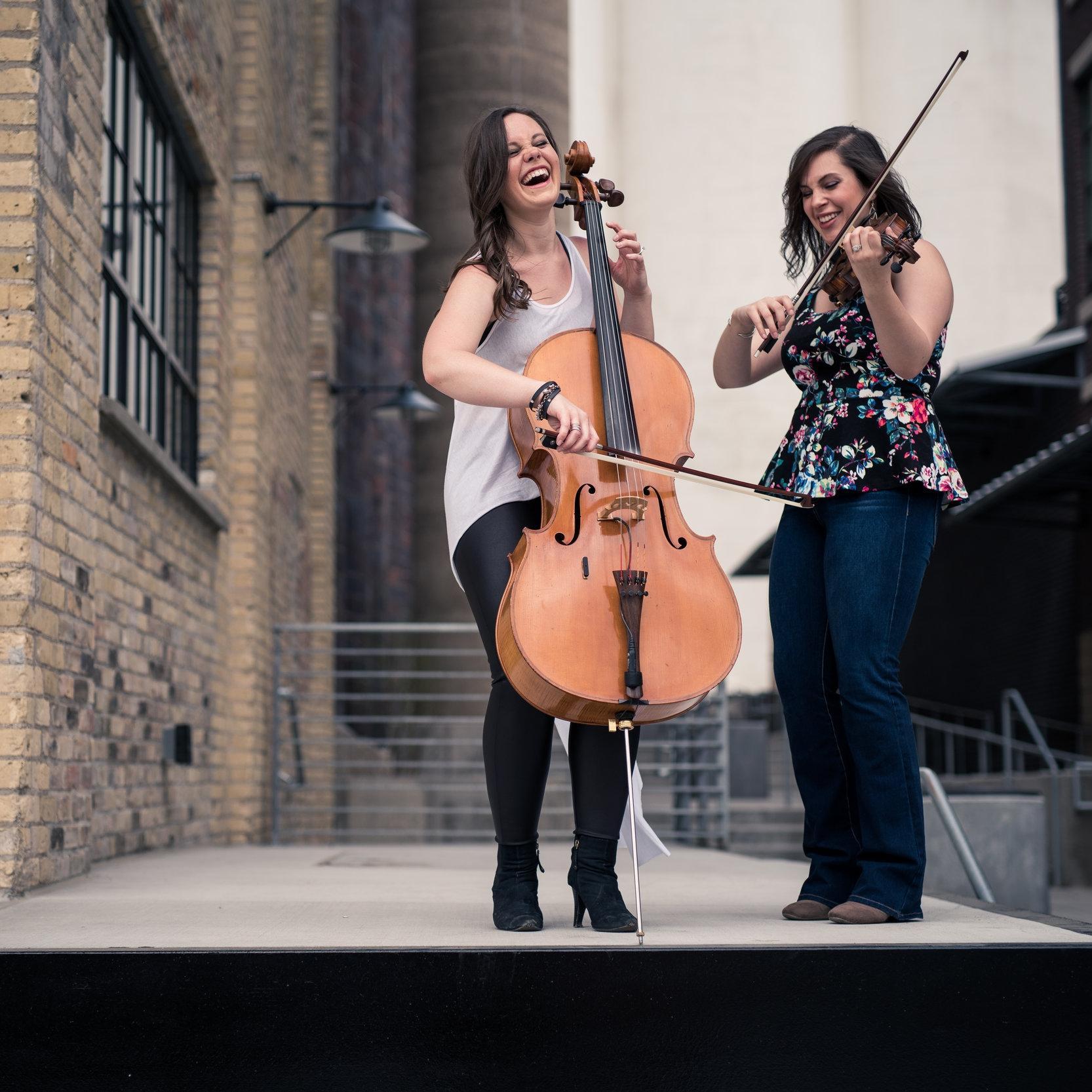 The OK Factor: Olivia Diercks,  cello and  Karla Colahan,  violin