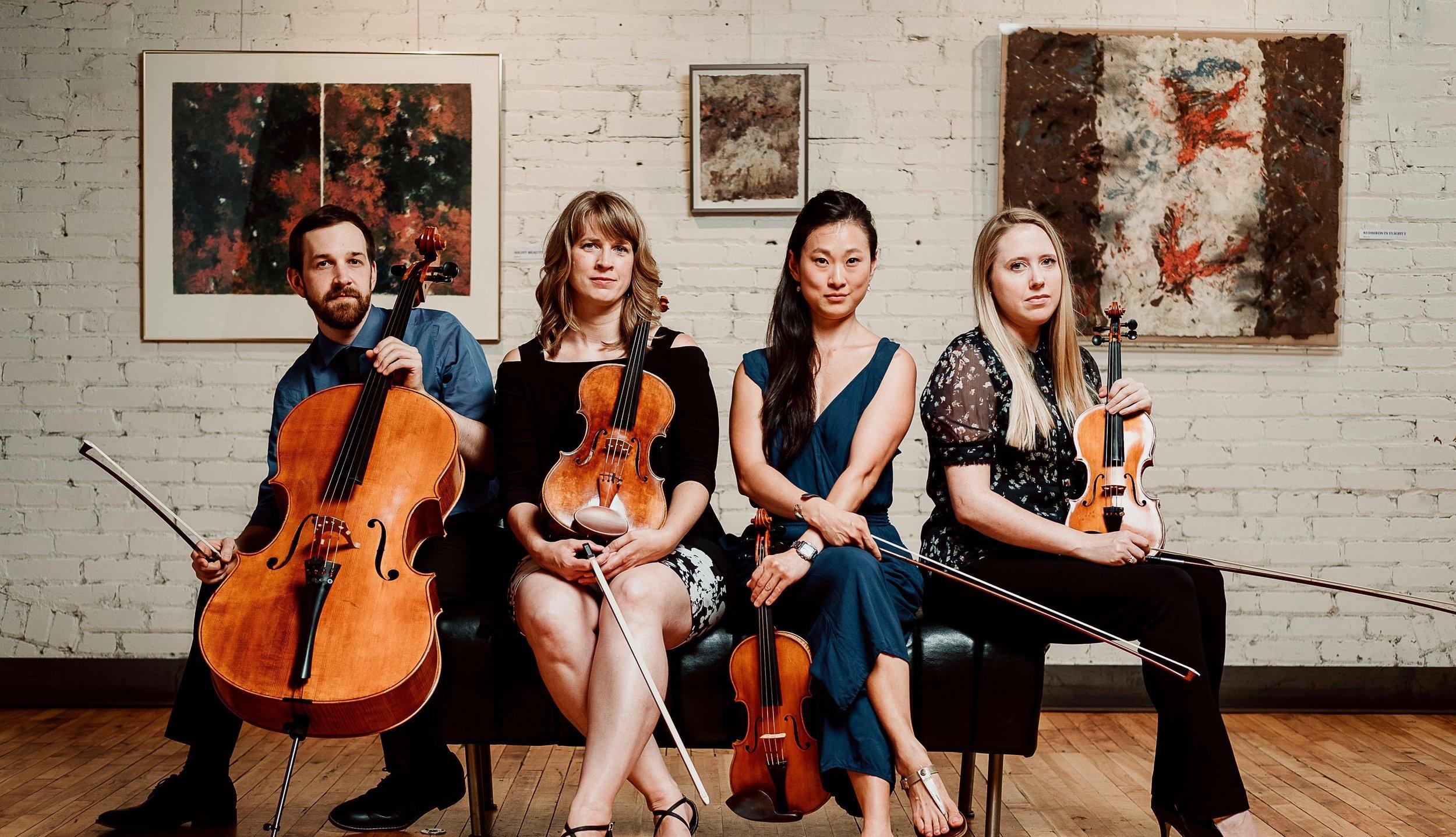 Lux String Quartet  (Thursday Musical Debut)   Eric Graf, cello; Kirsti Petraborg, viola; Erika Blanco, violin; Stephanie Skor, violin