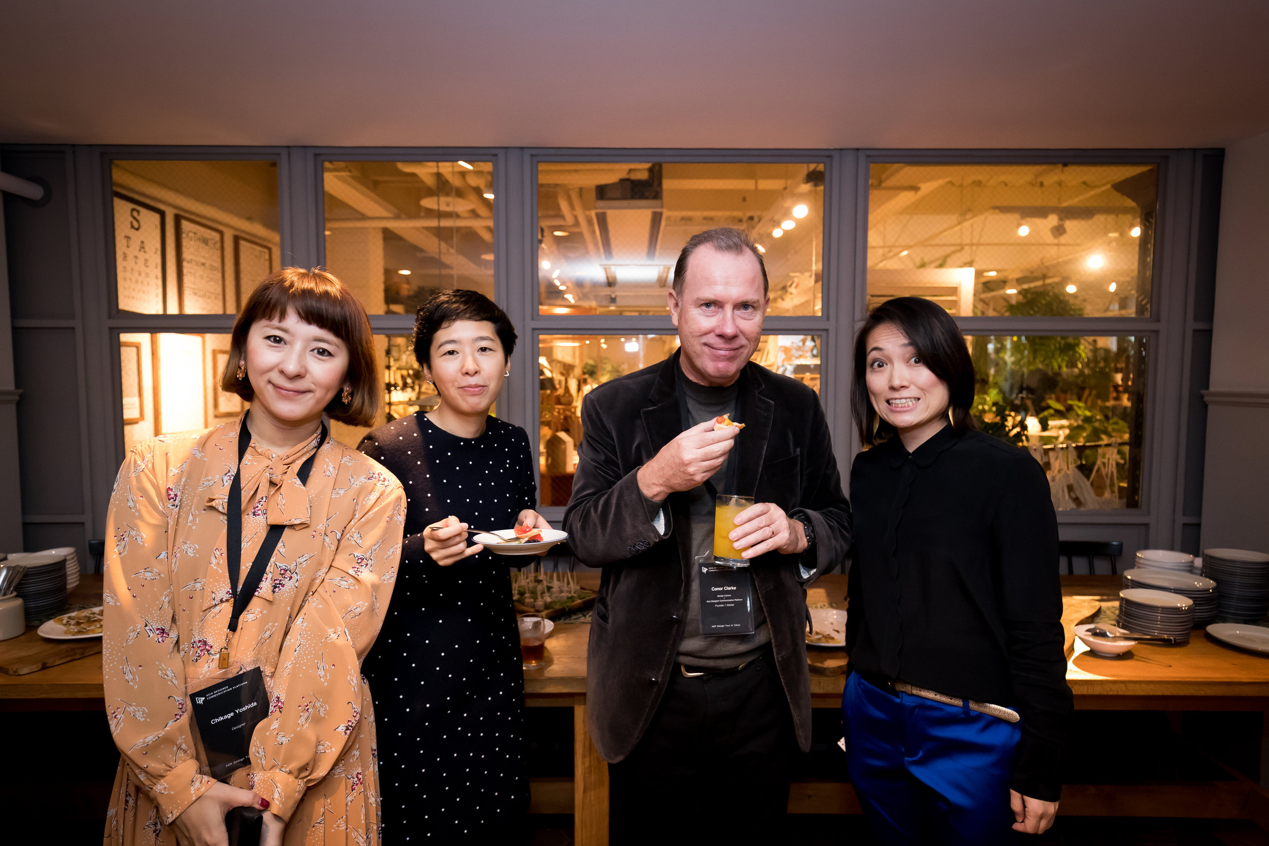 Japanese Graphic Designer Chikage Yoshida (Left First) and ADP Adviser Conor Clarke (Right Second) and Local Designers.jpg