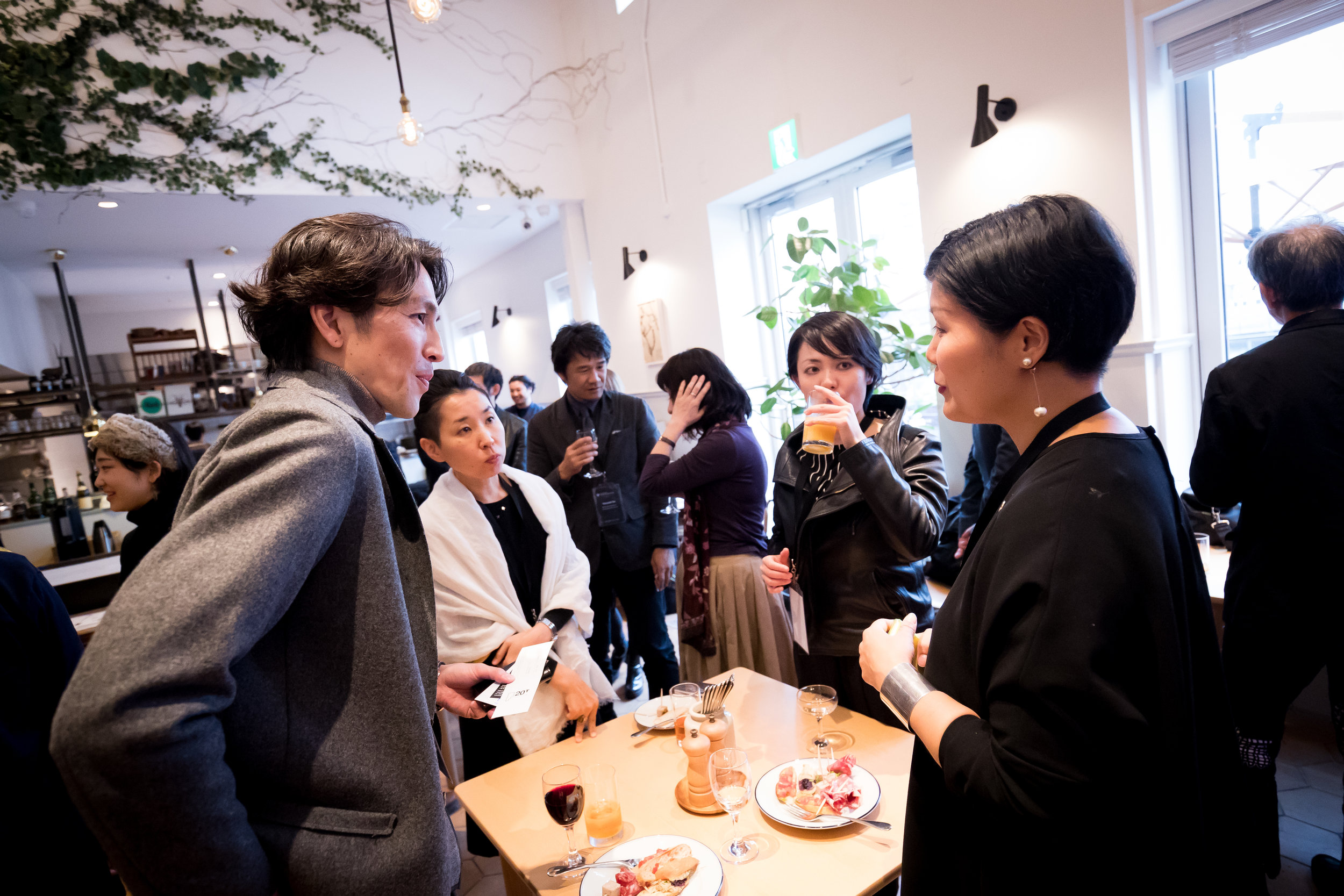 Keisuke Kikuchi of Japanese Architect Firm Tokisekkei  (Front Left) and Japanese Graphic Designer Chikako Oguma (Front Right) .jpg