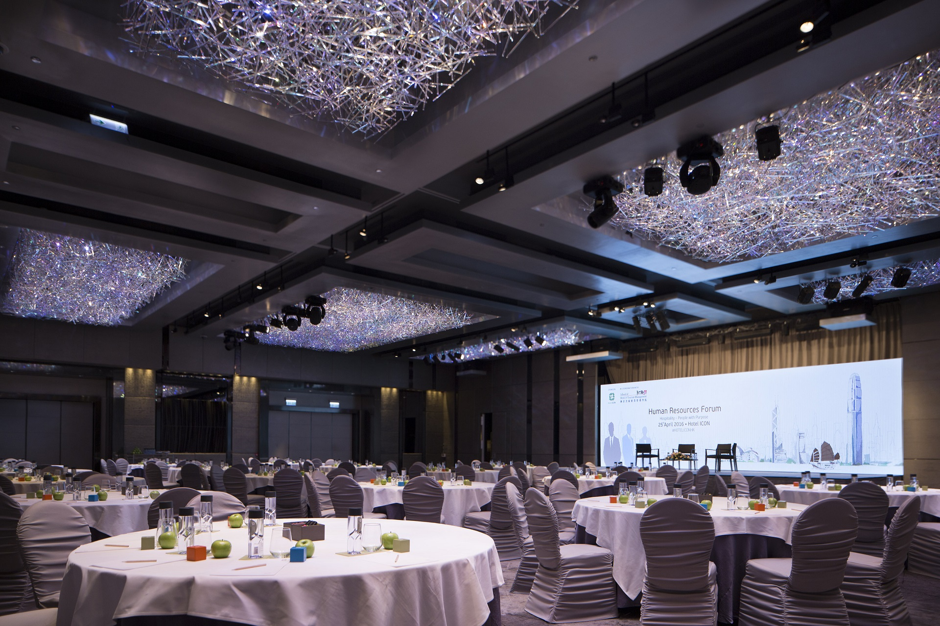 Ballroom of Hotel ICON - Hotel ICON's architectural design was performed by Hong Kong-based Rocco Design Architects Ltd., which was awarded the 2011 Hong Kong Institute of Architects Medal of the Year of Hong Kong for this work.