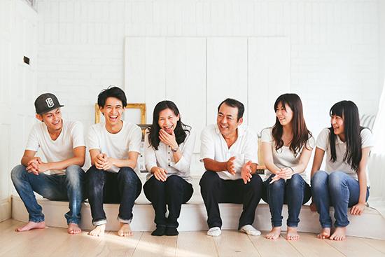 何年かぶりの家族そろっての家族写真。