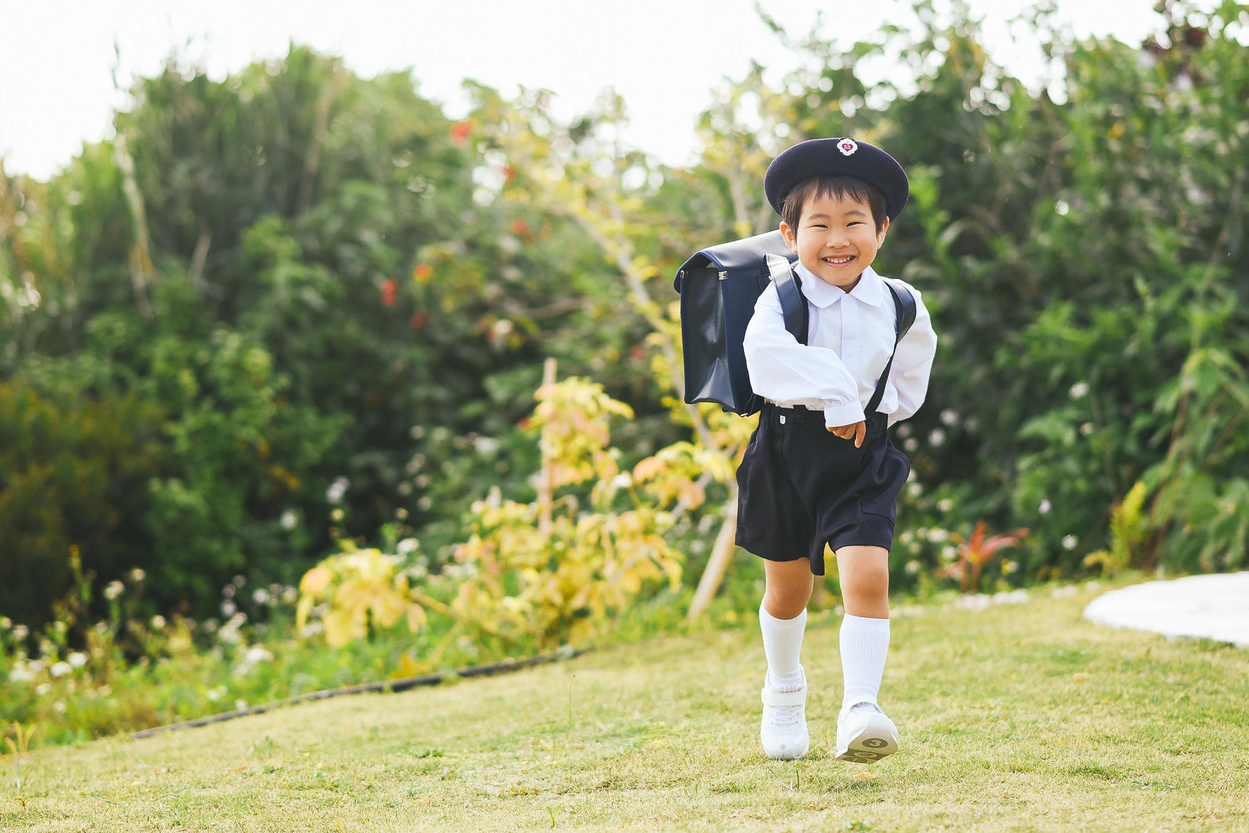 沖縄入学写真