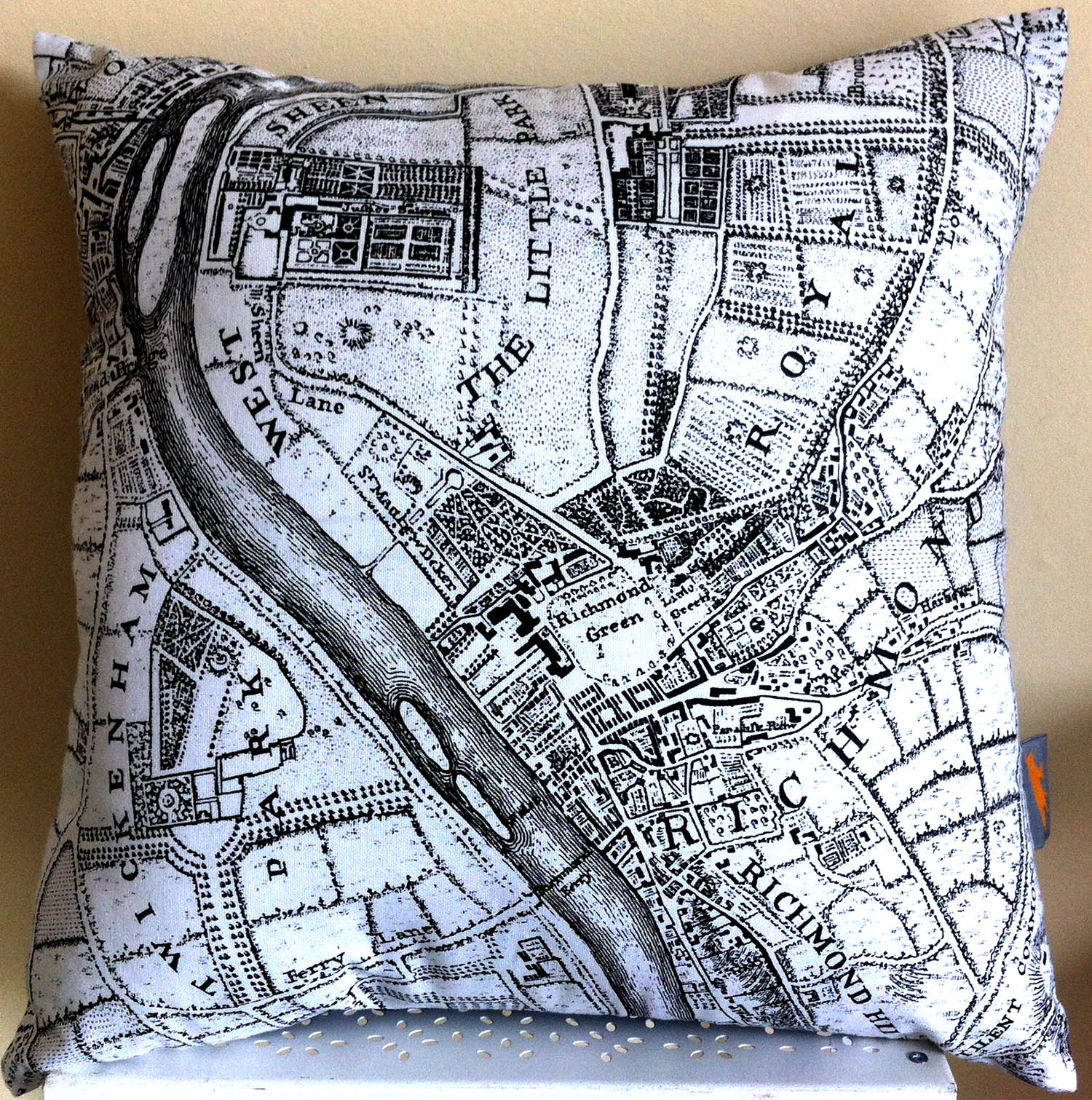 Richmond 1746 . Using the top of   One of Fiona's   map tea towels Design No.12.
