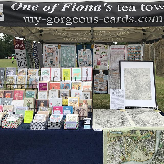 Find us today at St Margaret's Fair, Moormead Park, Twickenham TW1 1EB. All day until 7pm. We have our fabulous map tea towels and designer tea towels, plus our gorgeous range of unusual, funny and arty greeting cards. Treat yourself or a loved one to a unique gift and find the perfect greeting card #map #teatowels #stmargaretsfair #mygorgeouscards