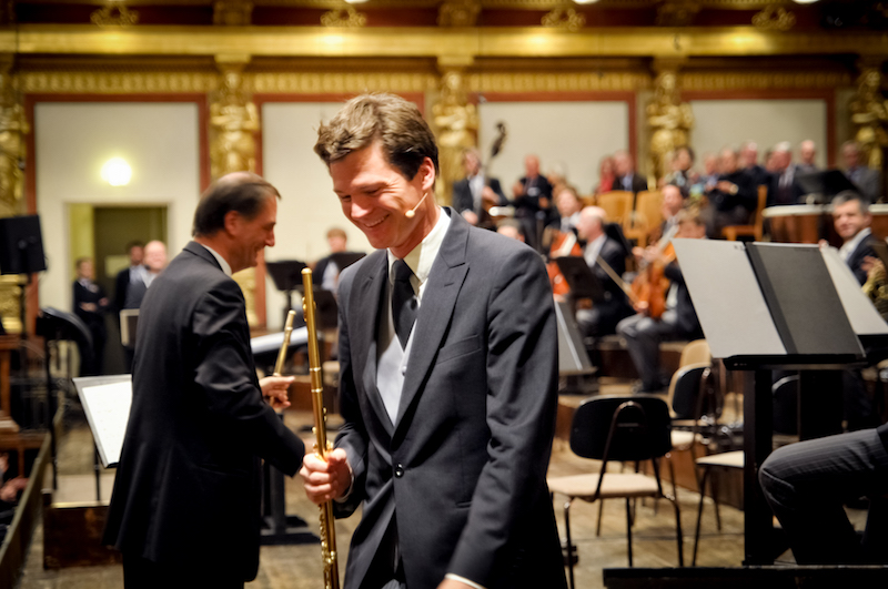 Boulez w/ Barenboim & Wiener Philharmoniker - Photo by Martin Kubik
