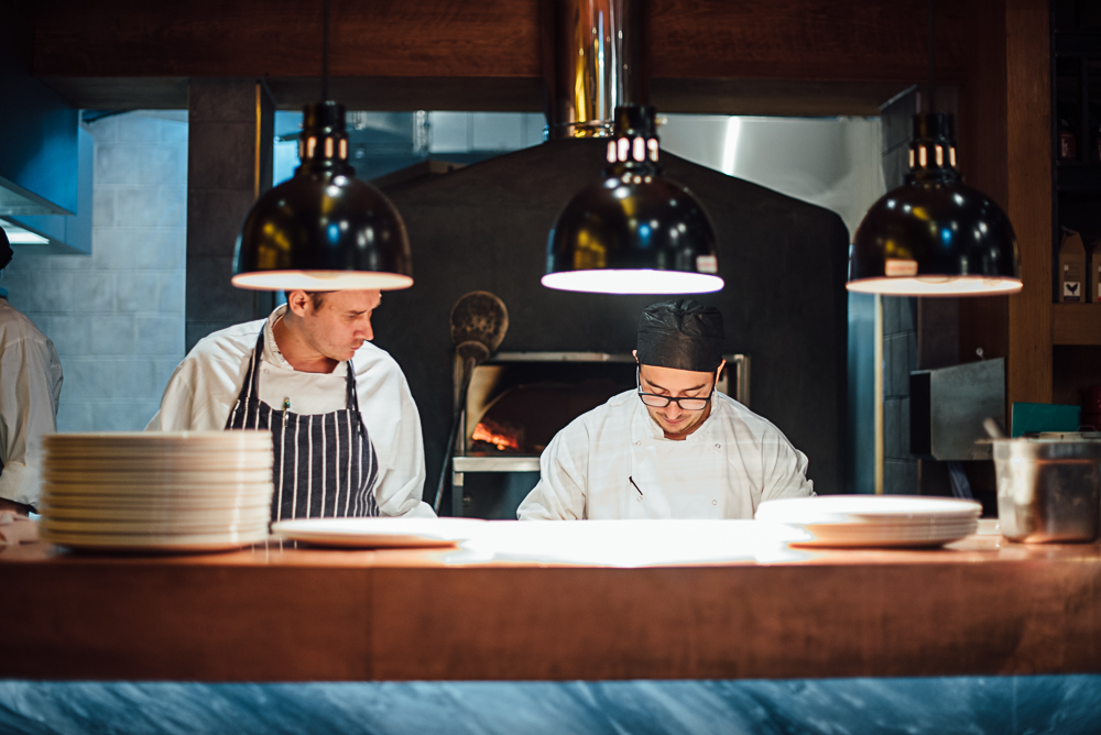 Chefs in the kitchen at The Akeman