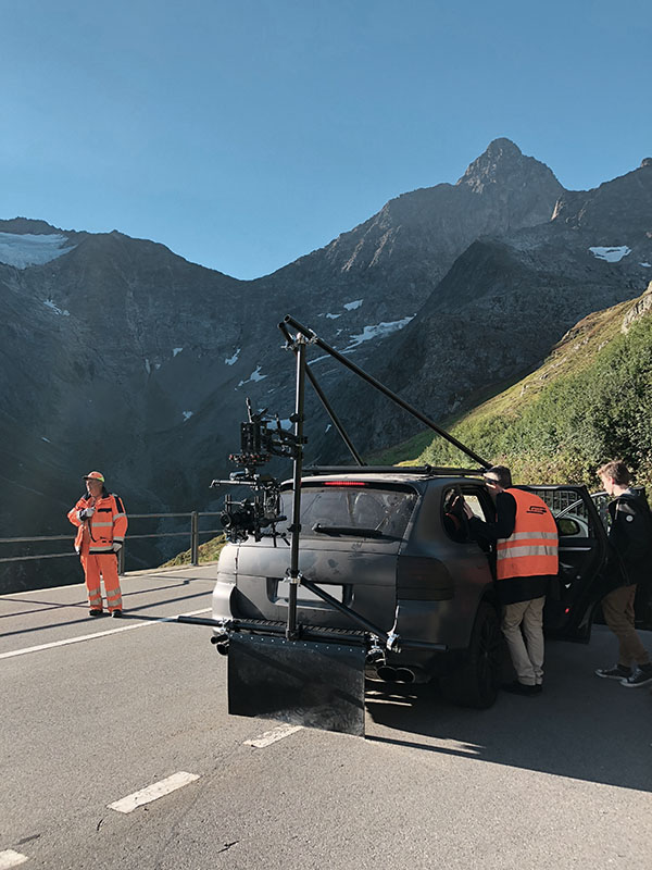 On the mountain pass with the Movi Pro
