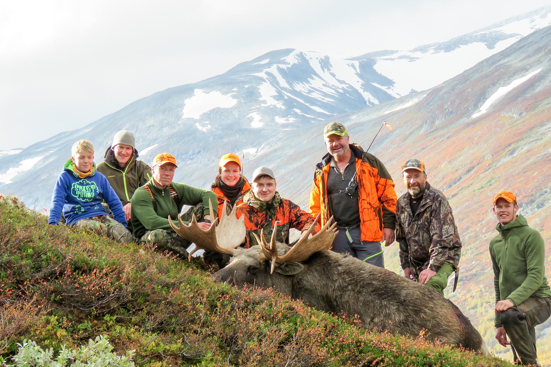 Foto: Leif Skiakers jaktlag