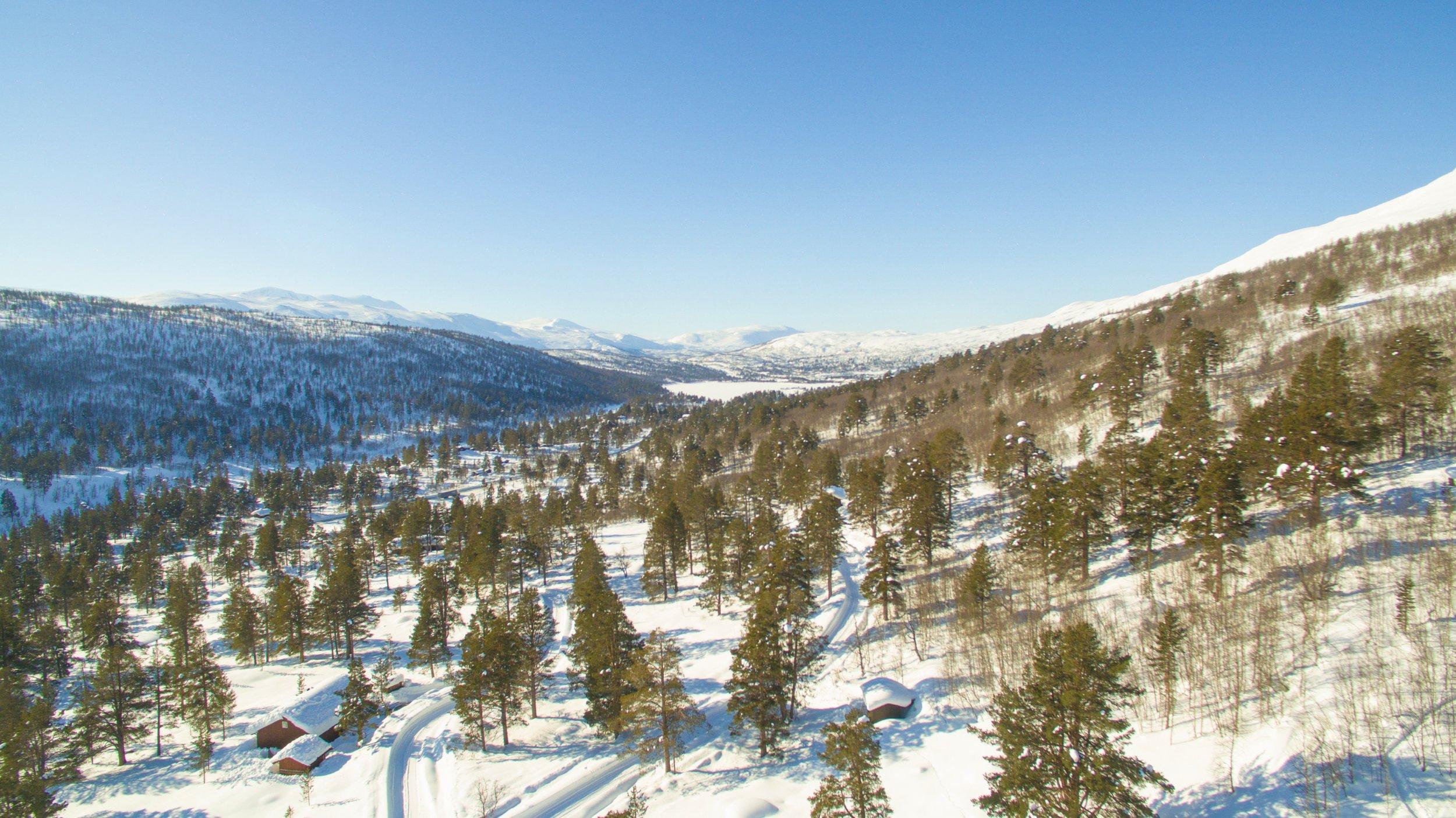 Utsikt nordover frå Billingen drone Trollbinde.jpg