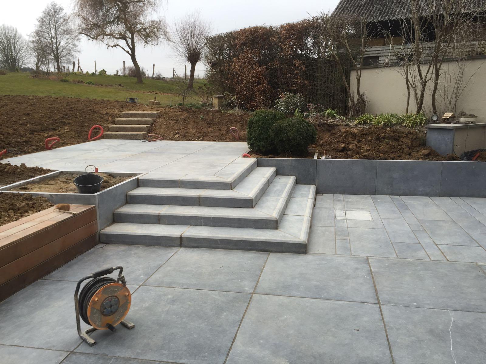 Terrasse minérale