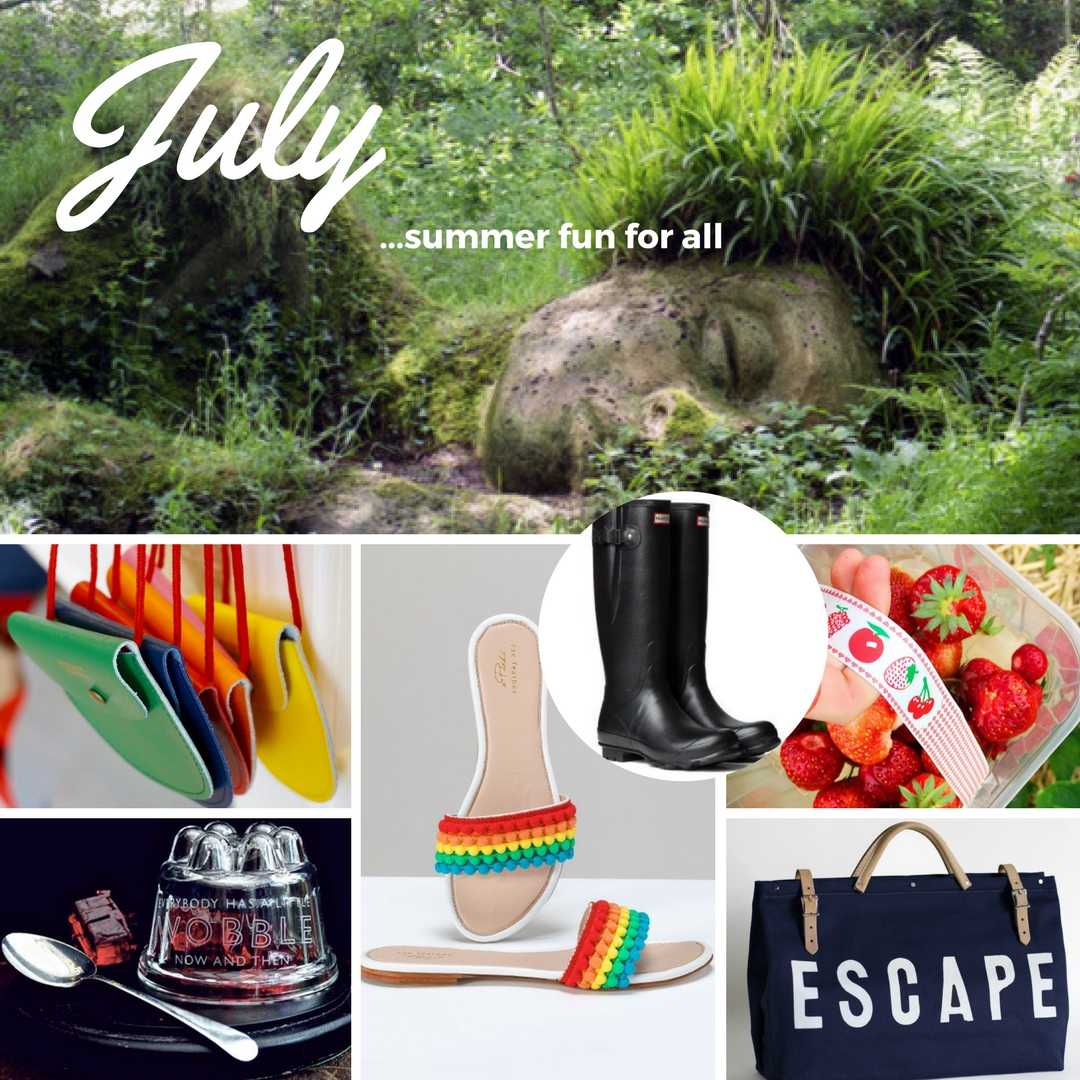 Woman in progress July Moodboard Summer fun for all