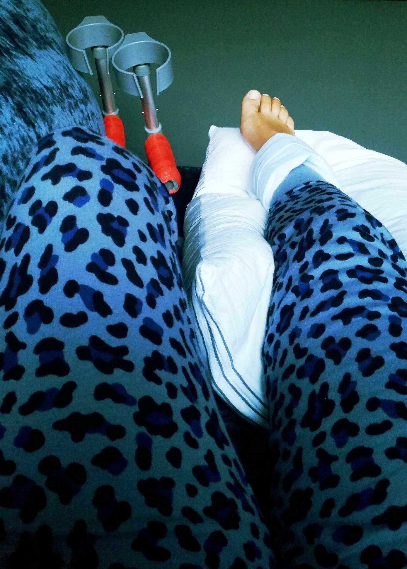 Leopard print tracksuit bottoms?