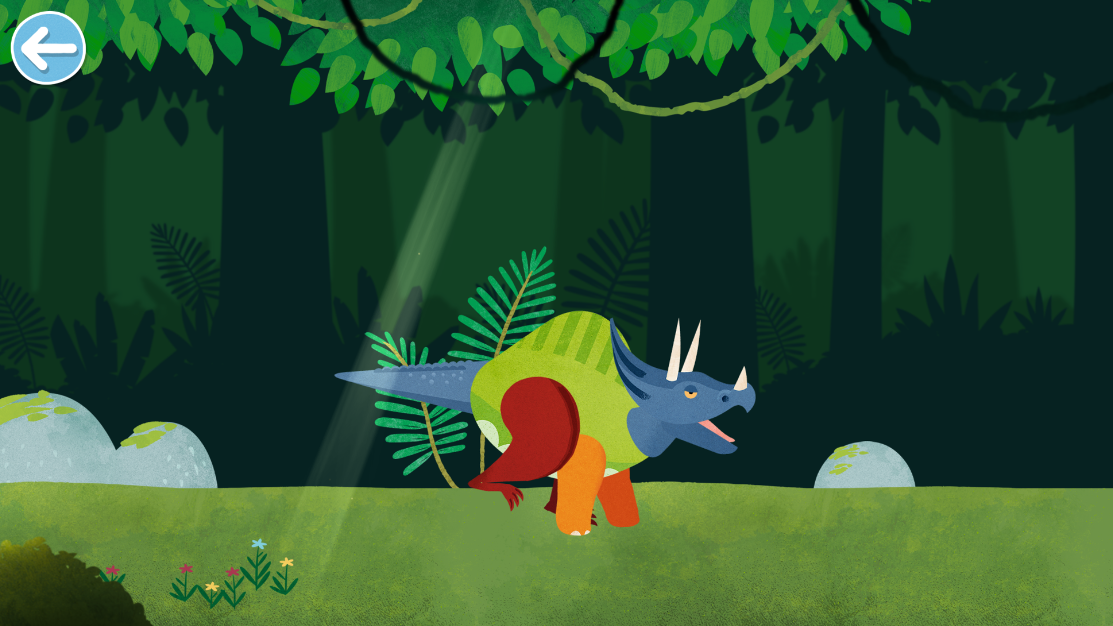 Dinosaur Mix - Endlessly entertaining, in this app the children build a dinosaur with multicoloured body parts, and then walk along looking for eggs to make a dinosaur in one single colour.  And when they do - they just start all over again.  £2.29