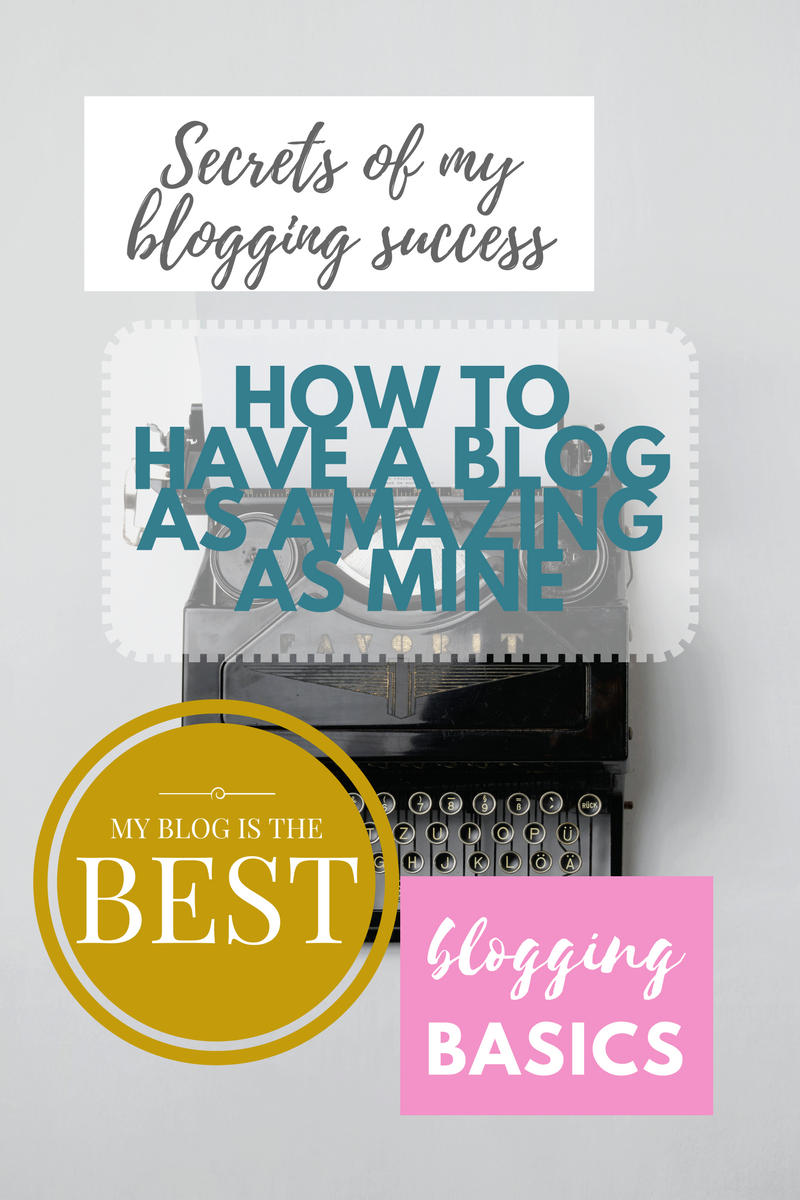 There is a ridiculous amount  of blogging advice out there