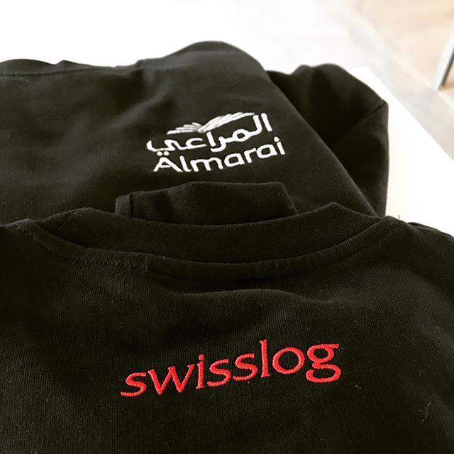wir können auch für ihr unternehmen individualisierte arbeitskleidung kreieren... - #firmenlogo #stickcenter #swisslog
