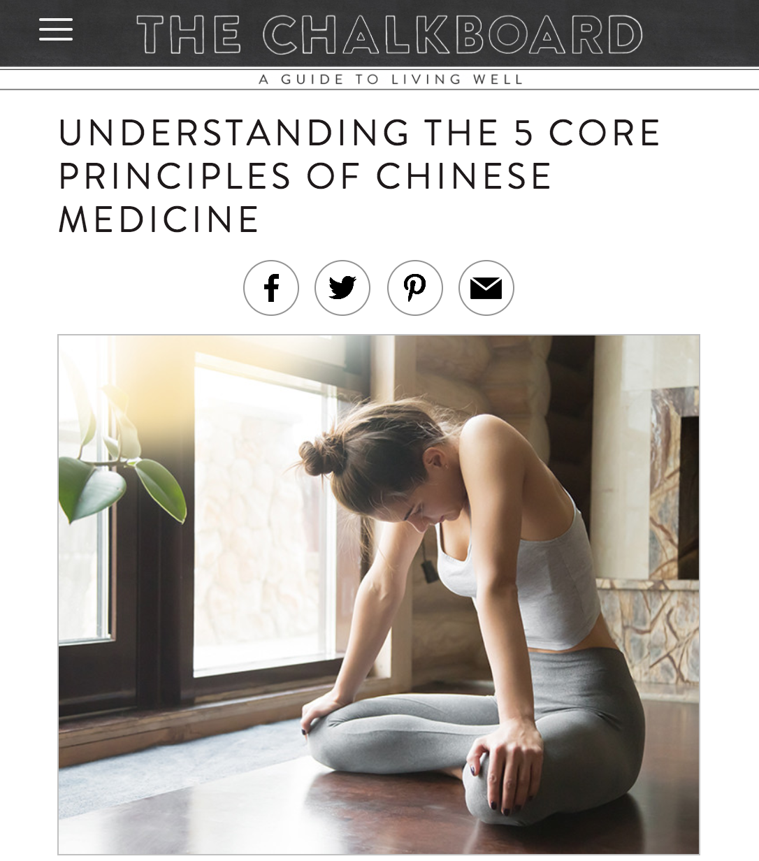 UNDERSTANDING THE 5 CORE PRINCIPLES OF CHINESE MEDICINE