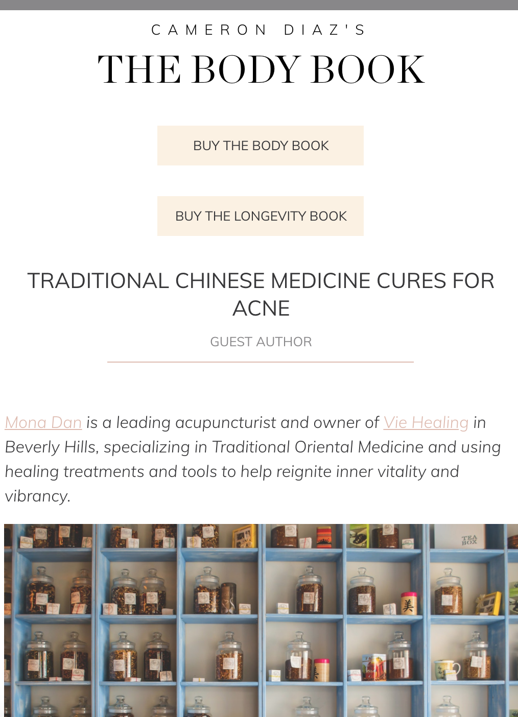 TRADITIONAL CHINESE MEDICINE CURES FOR ACNE