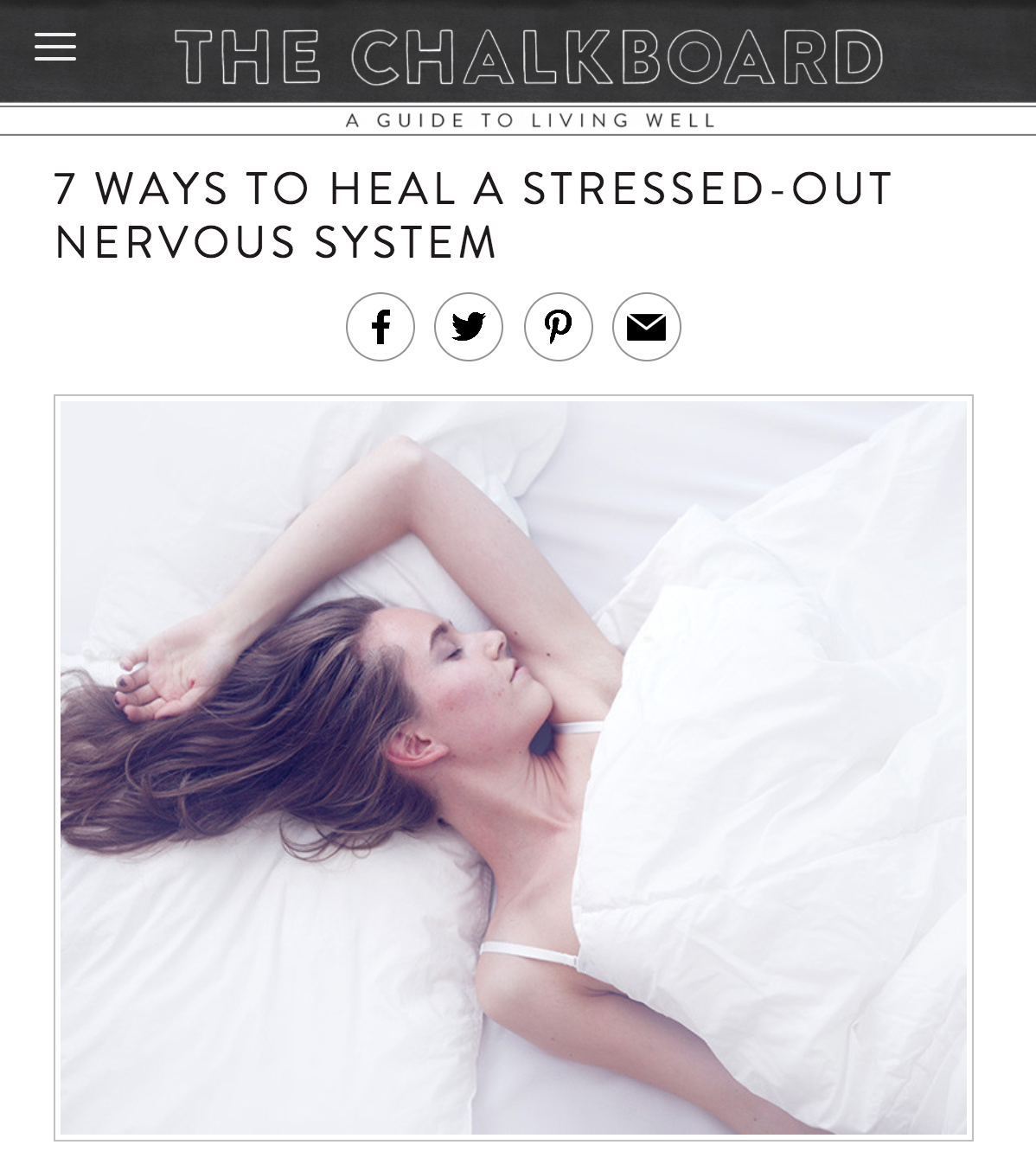 7 WAYS TO HEAL A STRESSED-OUT NERVOUS SYSTEM