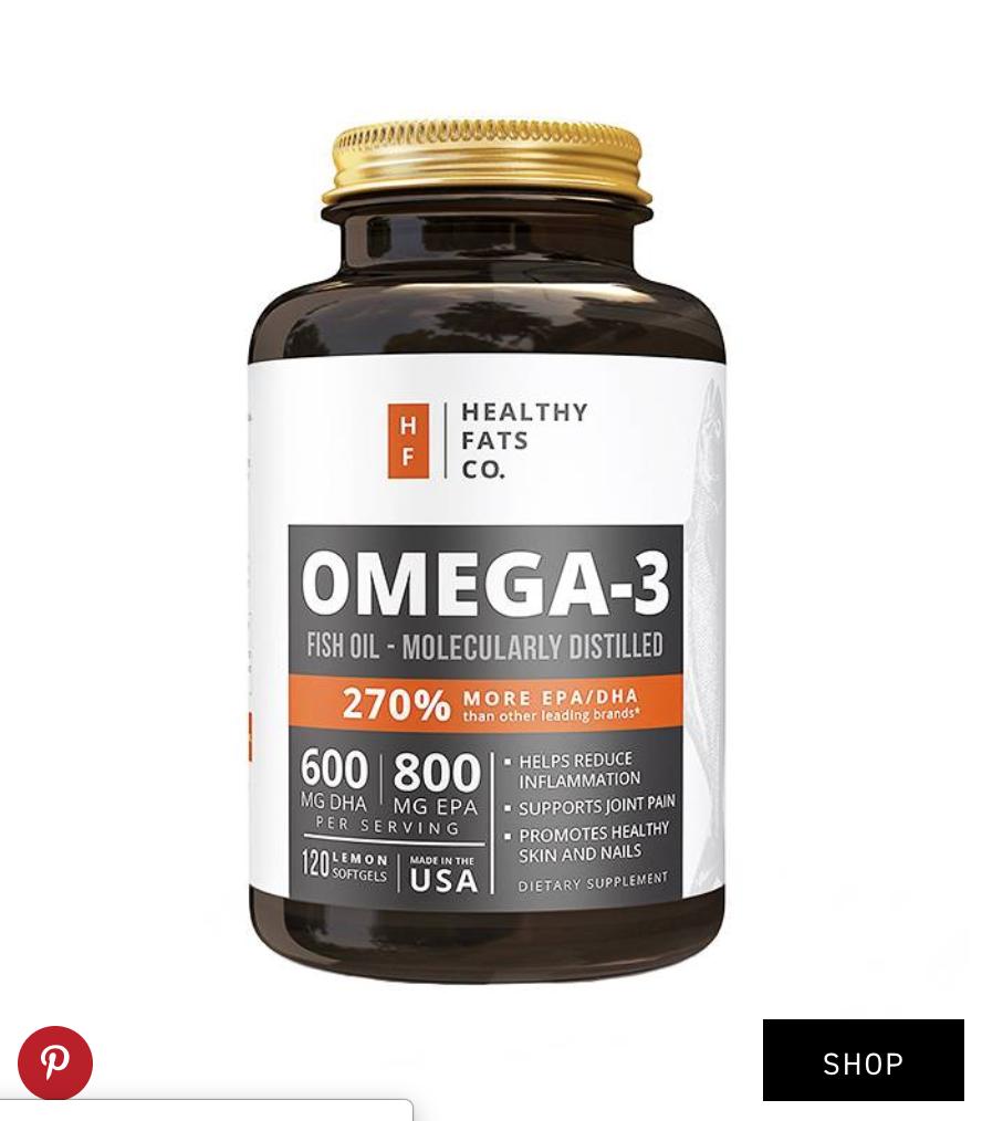 Healthy Fats Co.  Omega-3 Fish Oil Pills ($19)